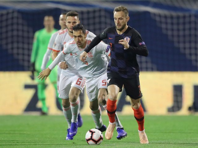 Ivan Rakitic con Croacia