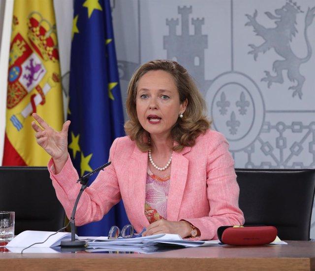 Rueda de prensa tras el Consejo de Ministros de la ministra de Economía