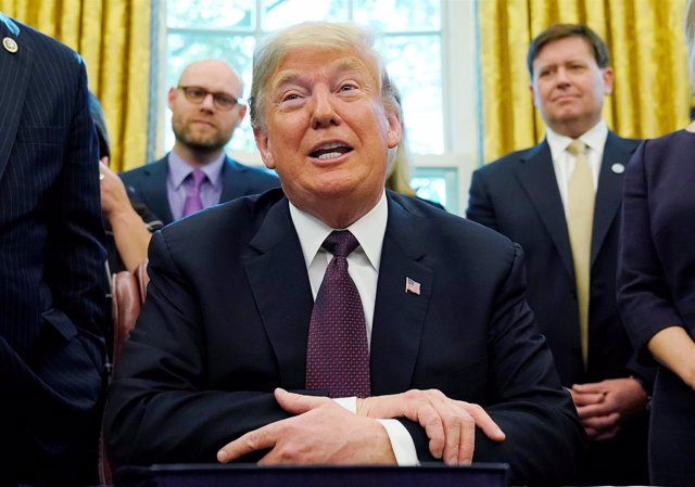 Donald Trump en el Despacho Oval