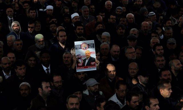 Funeral simbólico en honor a Yamal Jashogi en Estambul