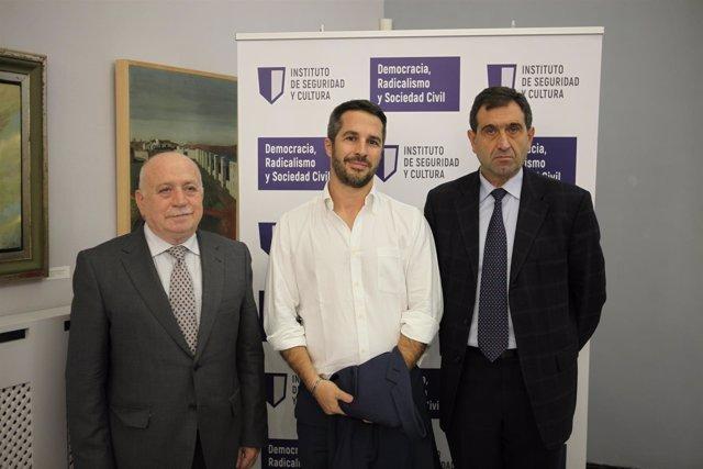 Emilio Sánchez de Rojas, Lorenzo Vidino y José Pardo de Santayana