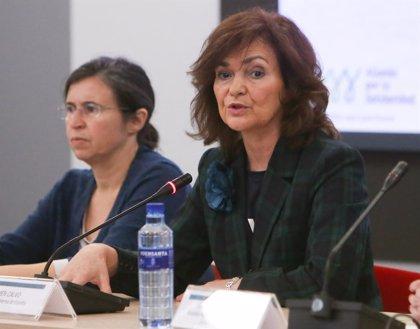 """Carmen Calvo condena el crimen de Palma y afirma que """"la consternación"""" impulsa a """"seguir trabajando"""""""