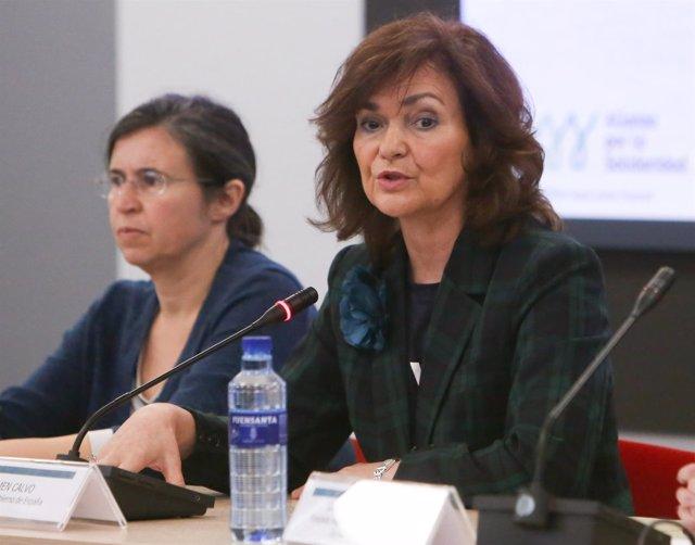 """Carmen Calvo en el Encuentro """"Mujer y Poder: liderazgo político"""""""