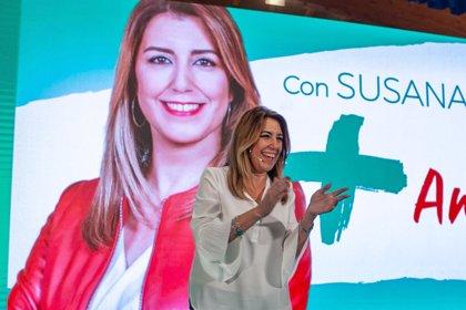 """Susana Díaz critica a una derecha que no aportó nada a la autonomía y se """"ofende"""" ante """"lo bueno"""" para Andalucía"""