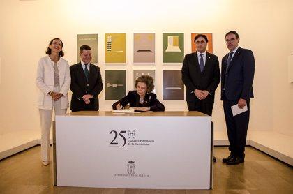 """La Reina Sofía, al Grupo Ciudades Patrimonio: """"Cuentan conmigo, siempre"""""""