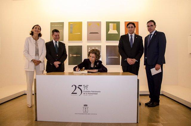 La Reina Sofía en Cuenca acto Ciudades Patrimonio de la Humanidad