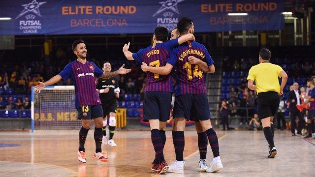 El Barça Lassa gana en Ronda Élite de fútbol sala
