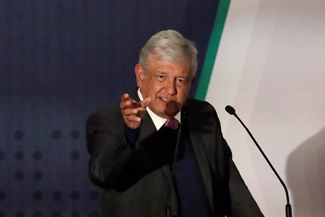 President-elect Andres Manuel Lopez Obrador talks about his security plan to the