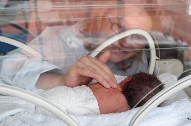 Incubadora, bebé, prematuro
