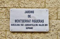 Barcelona dedica a la soprano Montserrat Figueras l'interior d'una illa de l'Eixample (AYUNTAMIENTO DE BARCELONA)