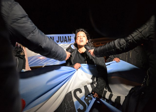 A relative of one of the 44 crew members of the missing at sea ARA San Juan subm
