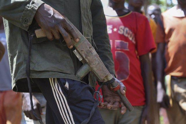 Milicianos antibalaka en Bambari