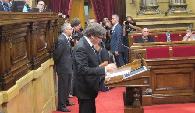 El presidente C.Puigdemont (Archivo)
