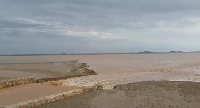 Episodio de lluvias en Los Alcázares