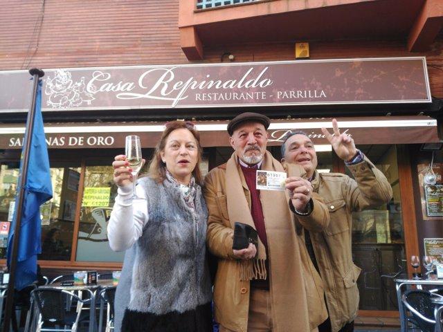 Casa Repinaldo, donde cayó el segundo cuarto premio de la Lotería de Navidad