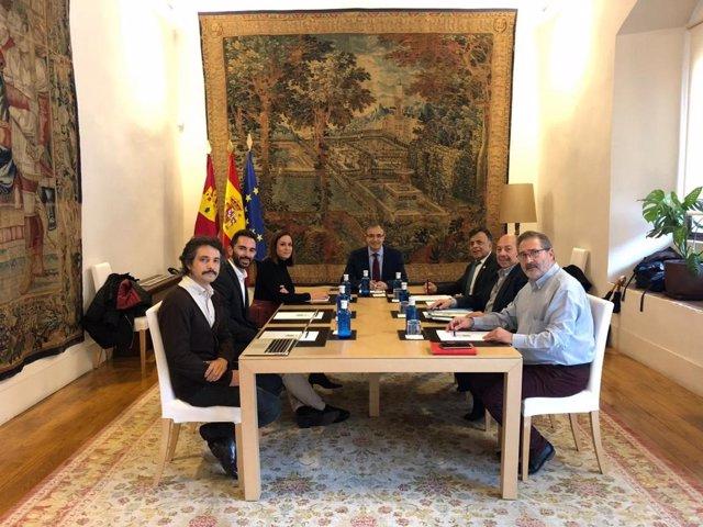 Fernández y Carrascosa en la reunión