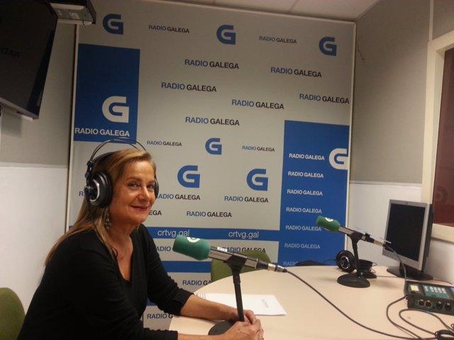 La presidenta de la Diputación de Pontevedra, Carmela Silva, en la Radio Galega