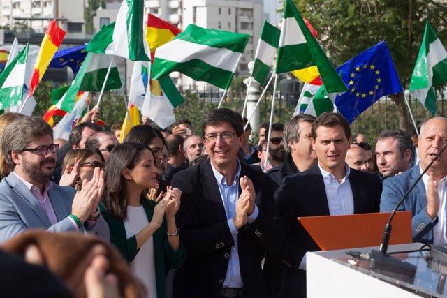 En Sevilla, acto público del candidato de Ciudadanos (Cs) a la Presidencia de la