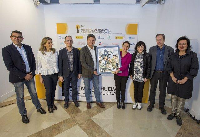 Entrega del premio Cine y Valores en el marco del Festival de Huelva