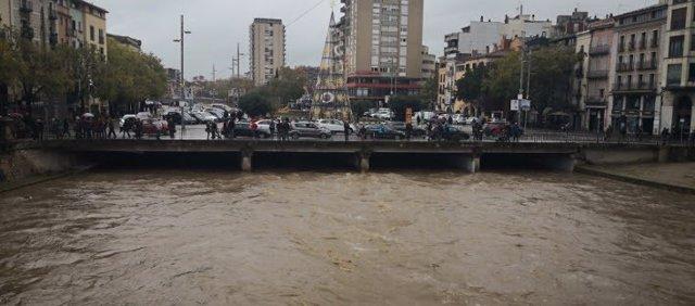 Las inundaciones por las fuertes lluvias en Girona