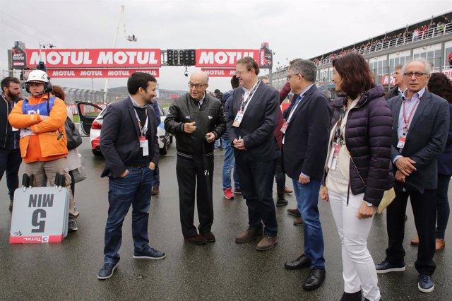 Puig y Marzà en el Gran Premio de Cheste