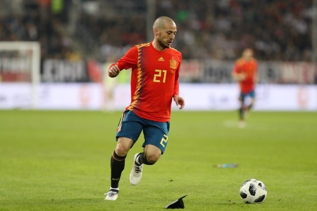 David Silva (Spain) during an international friendly game