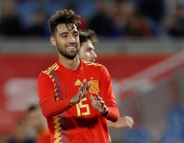 Brais Méndez, en un partido con la selección española
