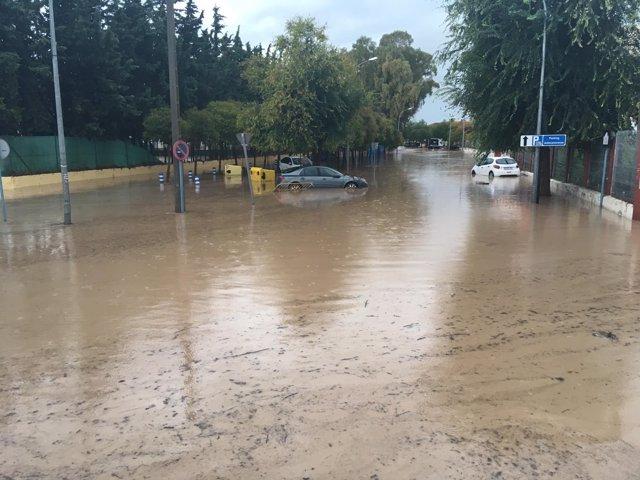 Temporal de lluvias en Antequera este año