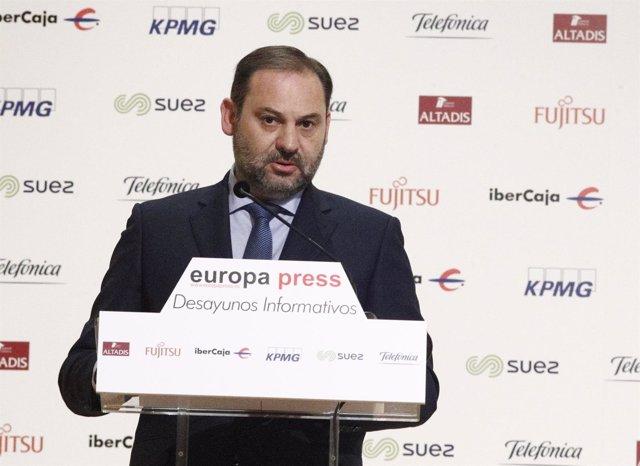 José Luis Ábalos interviene en los Desayunos Informativos de Europa Press en Mad