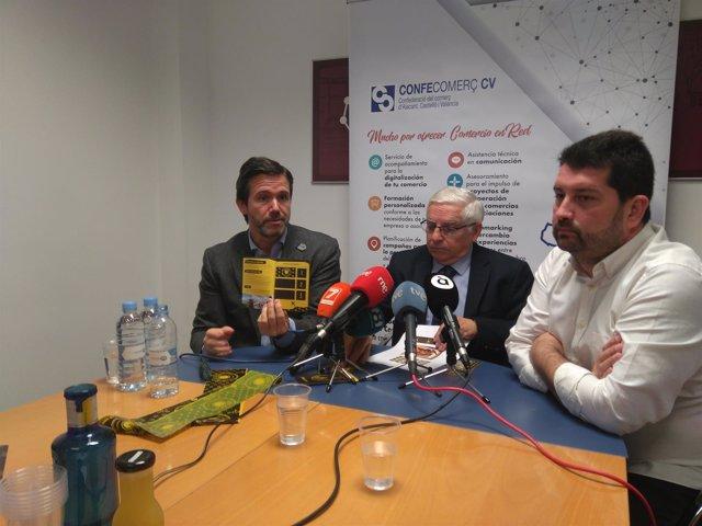 Rafael Torres, Cipriano Cortés y Natxo Costa