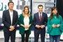 Susana Díaz pide una mayoría amplia y Moreno, Rodríguez y Marín reivindican cambio en el Gobierno andaluz