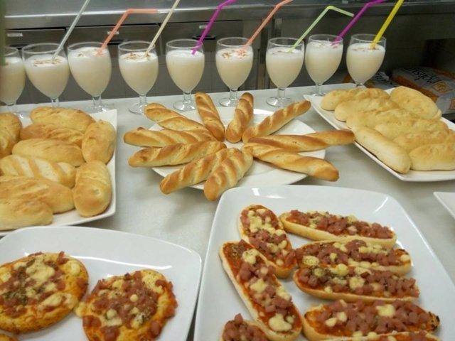 Alimentos  elaborados por la Escuela de Hostelería de La Laguna