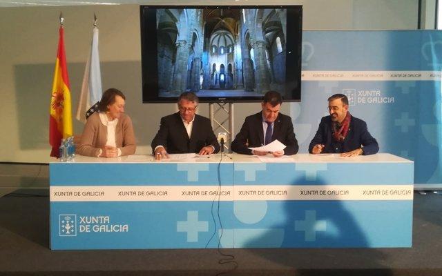 Una inversión de 300.000 euros permitirá limpiar los muros y reparar las cubiertas del Monasterio de Carboeiro