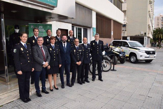 Policía autonómica  málaga grupo unidad adscrita