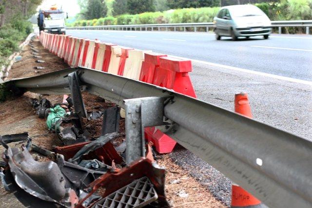 Imagen de archivo tras un accidente de tráfico