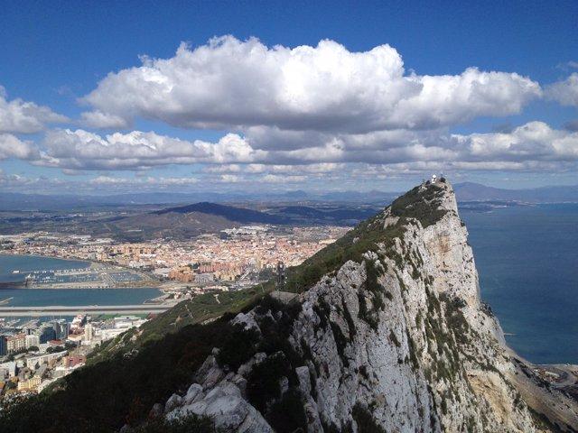 Vista del peñón de Gibraltar