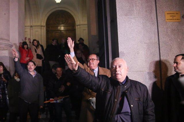 Misa por Francisco Franco en la iglesia de San Francisco de Borja de Madrid