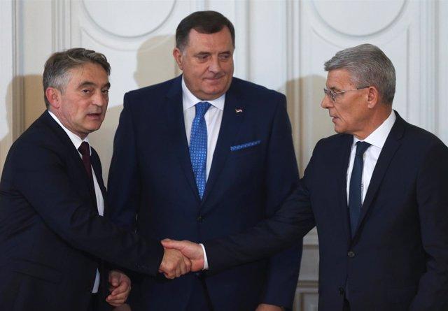Dodik, Dzaferovic y Komsic, miembros de la Presidencia de Bosnia y Herzegovina