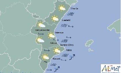 La Comunitat Valenciana amanece con cielos pocos nubosos y sin previsión de lluvias