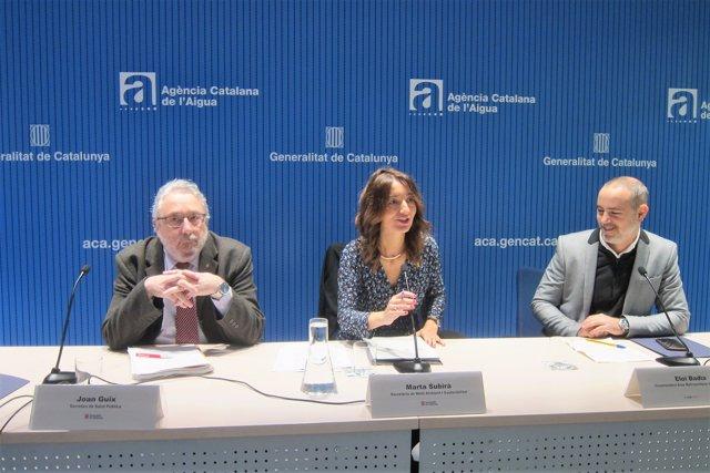 J.Guix (Salut), M.Subirà (Medi ambient) I I.Badia (AMB)