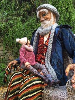 La gran titella que farà de fil conductor del Nadal a Barcelona