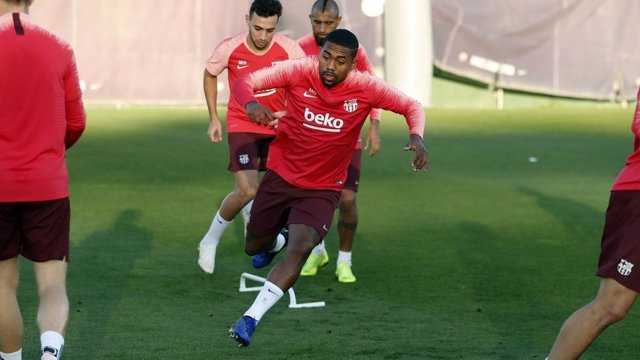 Malcom entrenamiento Barcelona