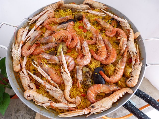 Paella, arroz