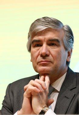 Francisco Reynés en la presentación de resultados de Gas Natural