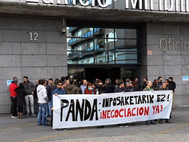 Concentración de Panda en Bilbao