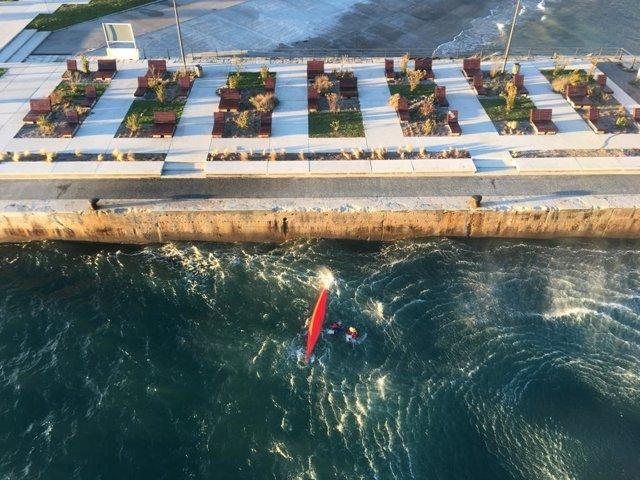 Rescate piragüista Santander