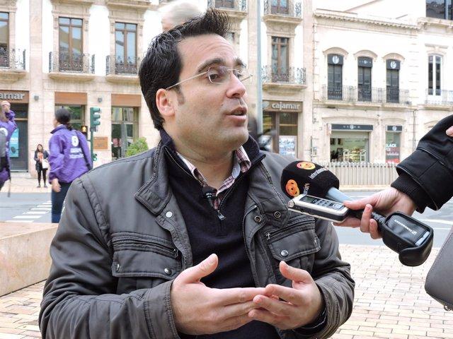 El edil del PSOE de Almería Pedro Díaz