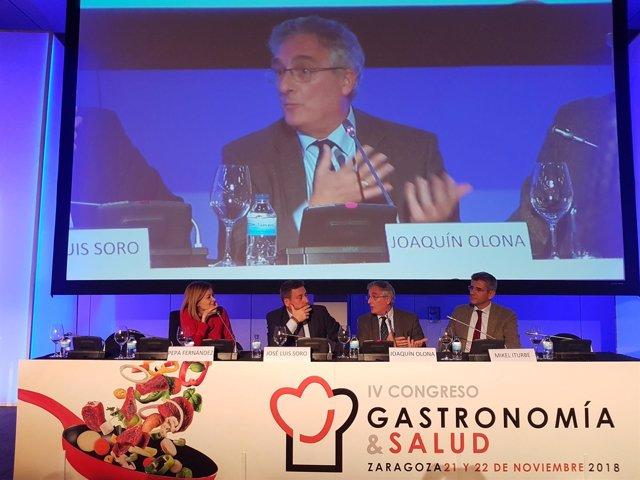 Olona y Soro han inuagurado hoy el congreso sobre gastronomía y salud
