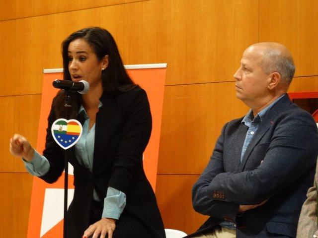 Begoña Villacís con Imbroda (Cs) en Málaga