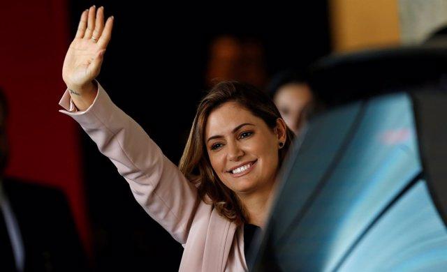 Michelle Bolsonaro, mujer del presidente electo de Brasil, Jair Bolsonaro